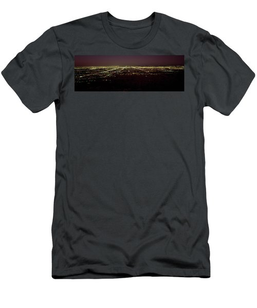 High Angle View Of A City, South Men's T-Shirt (Athletic Fit)