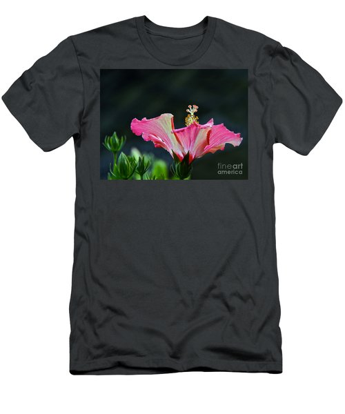 High Speed Hibiscus Flower Men's T-Shirt (Athletic Fit)