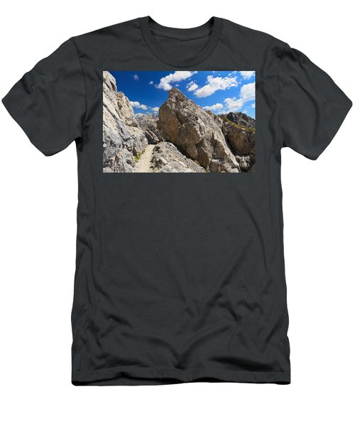 hike in Dolomites Men's T-Shirt (Athletic Fit)