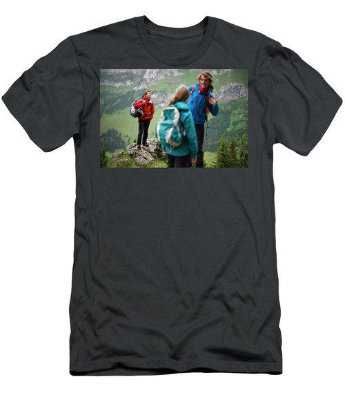 Hikers, Appenzellerland, Switzerland Men's T-Shirt (Athletic Fit)