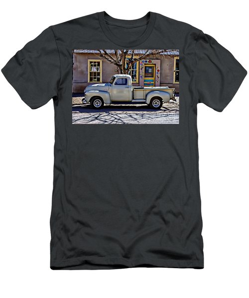 Men's T-Shirt (Slim Fit) featuring the painting Hillsboro New Mexico 1949 Gmc 100 by Barbara Chichester