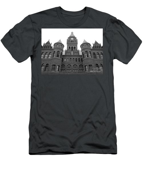 Men's T-Shirt (Slim Fit) featuring the photograph Historic Old Red Courthouse Dallas #2 by Robert ONeil