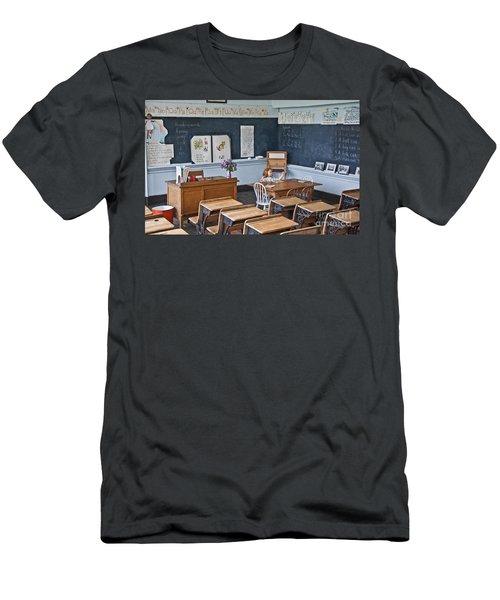 Historic School Classroom Art Prints Men's T-Shirt (Slim Fit) by Valerie Garner
