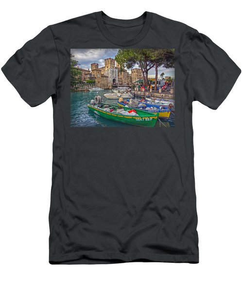 History At Lake Garda Men's T-Shirt (Slim Fit) by Hanny Heim