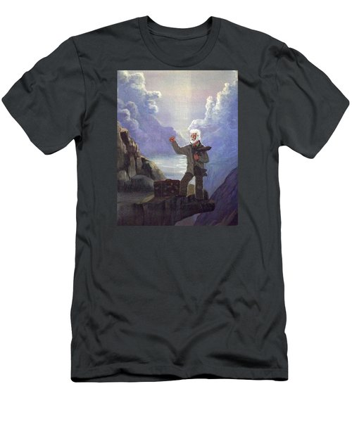 Men's T-Shirt (Slim Fit) featuring the painting Hitchhiker by Richard Faulkner
