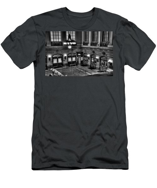 Hoboken Terminal Waiting Room Men's T-Shirt (Slim Fit) by Anthony Sacco
