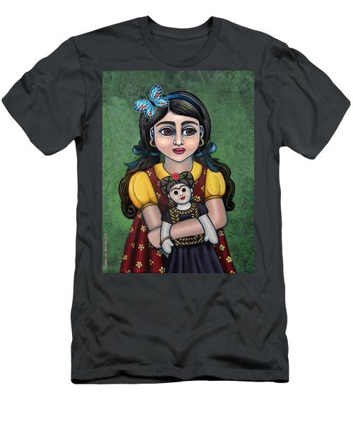 Holding Frida With Butterfly Men's T-Shirt (Athletic Fit)