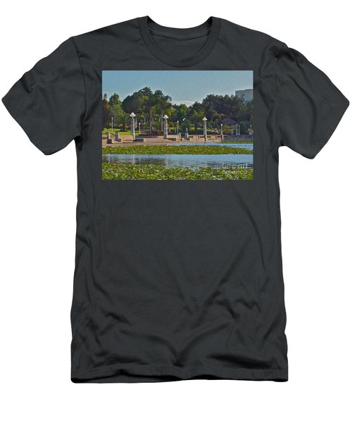Hollis Gardens II Men's T-Shirt (Slim Fit) by Carol  Bradley