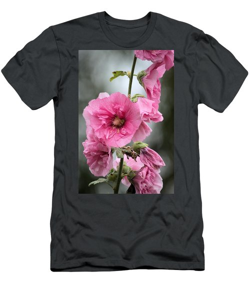Hollyhock Men's T-Shirt (Slim Fit) by Bonfire Photography