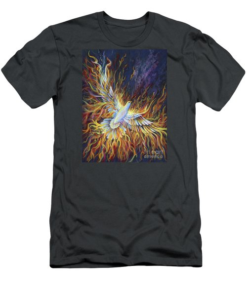 Holy Fire Men's T-Shirt (Slim Fit) by Nancy Cupp