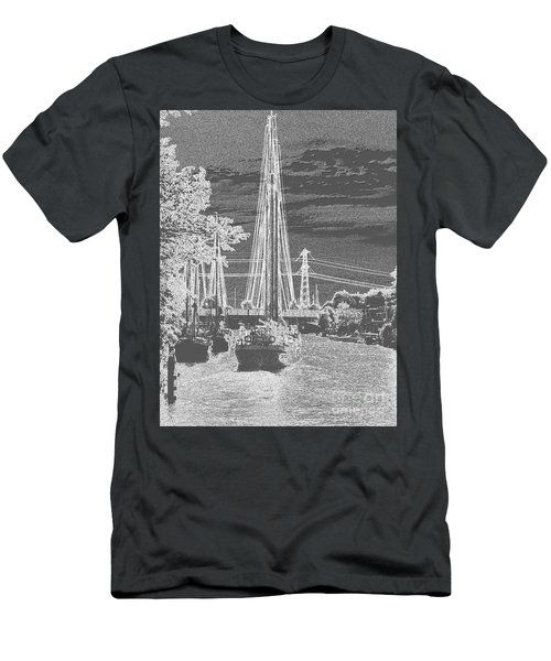 Men's T-Shirt (Athletic Fit) featuring the photograph Home Sail by Luc Van de Steeg