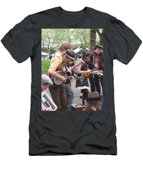 Homestyle Band Men's T-Shirt (Slim Fit) by David Trotter