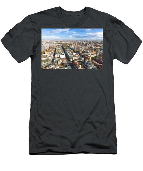 Horizontal Aerial View Of Berlin Men's T-Shirt (Athletic Fit)