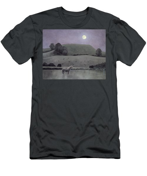 Horse In Moonlight, 2005 Oil On Canvas Men's T-Shirt (Athletic Fit)