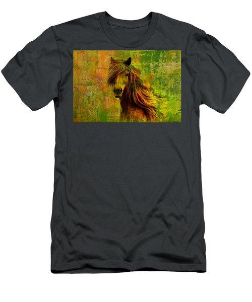 Horse Paintings 001 Men's T-Shirt (Athletic Fit)