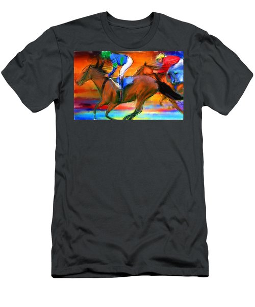 Horse Racing II Men's T-Shirt (Athletic Fit)