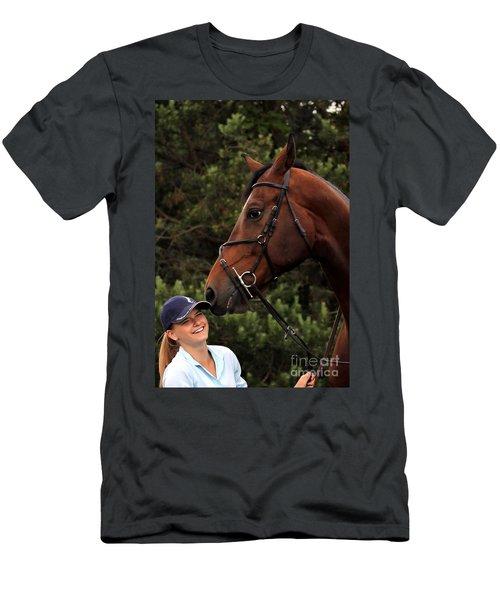 Horsie Nudge Men's T-Shirt (Athletic Fit)