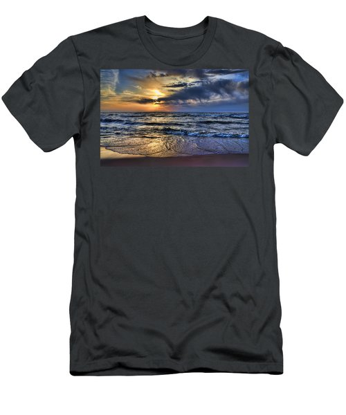 Hot April Sunset Saugatuck Michigan Men's T-Shirt (Athletic Fit)