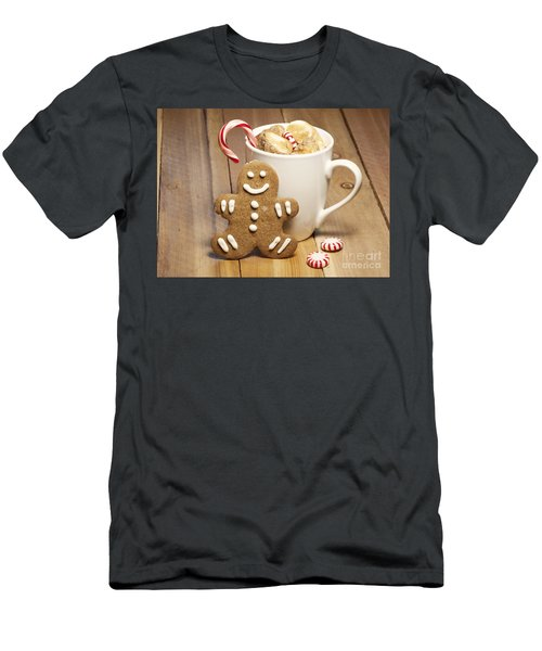 Hot Chocolate Toasted Marshmallows And A Gingerbread Cookie Men's T-Shirt (Athletic Fit)