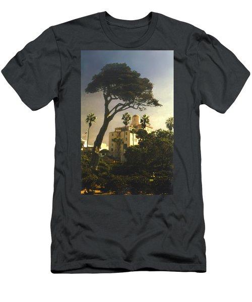Hotel California- La Jolla Men's T-Shirt (Slim Fit) by Steve Karol