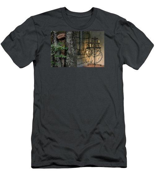 Haunted Cloister - Mea Culpa Men's T-Shirt (Slim Fit) by Yvonne Wright