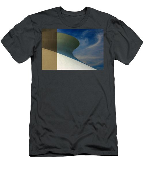 Hourglass Dome Cloud Swirl Men's T-Shirt (Athletic Fit)