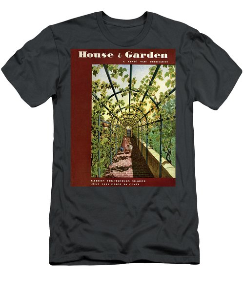 House & Garden Cover Illustration Of Young Girls Men's T-Shirt (Athletic Fit)