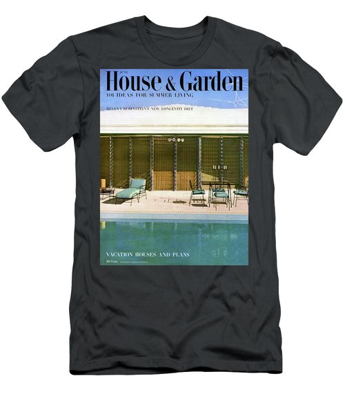 House & Garden Cover Of A Swimming Pool At Miami Men's T-Shirt (Athletic Fit)