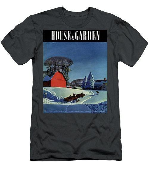 House And Garden Christmas Decoration Cover Men's T-Shirt (Athletic Fit)