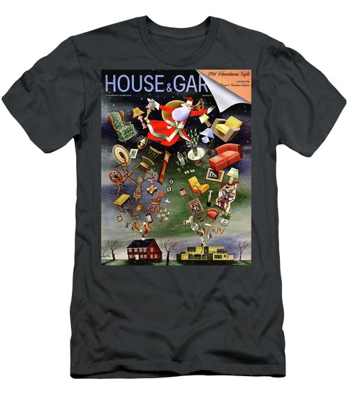 House And Garden Christmas Gifts Cover Men's T-Shirt (Athletic Fit)