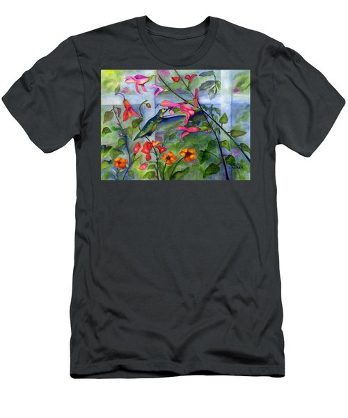Hummingbird Dance Men's T-Shirt (Athletic Fit)