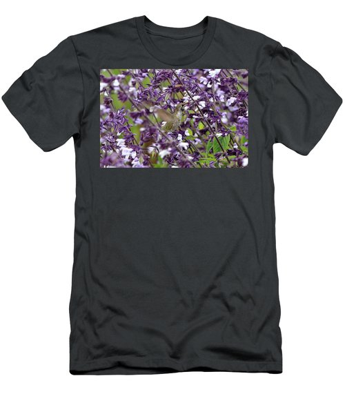 Hummingbird Flowers Men's T-Shirt (Athletic Fit)