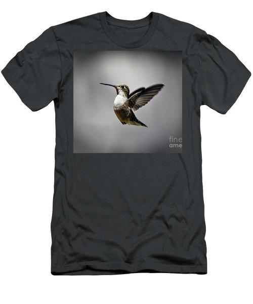Hummingbird Men's T-Shirt (Slim Fit) by Savannah Gibbs