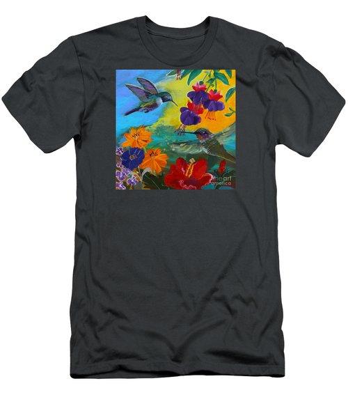 Hummingbirds Prayer Warriors Men's T-Shirt (Slim Fit) by Robin Maria Pedrero