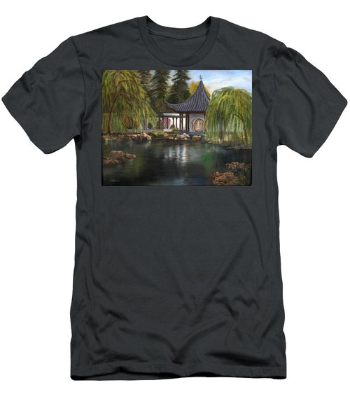 Huntington Chinese Gardens Men's T-Shirt (Slim Fit) by LaVonne Hand