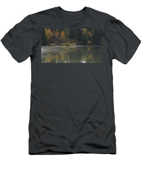 Hut By The Lake Men's T-Shirt (Athletic Fit)
