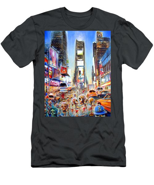 Men's T-Shirt (Slim Fit) featuring the painting I Heart Ny by Heather Calderon