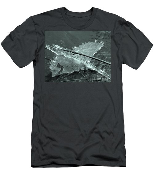Men's T-Shirt (Slim Fit) featuring the photograph Ice-bird On The River by Nina Silver