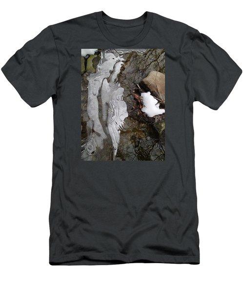 Ice Flow Men's T-Shirt (Slim Fit) by Robert Nickologianis