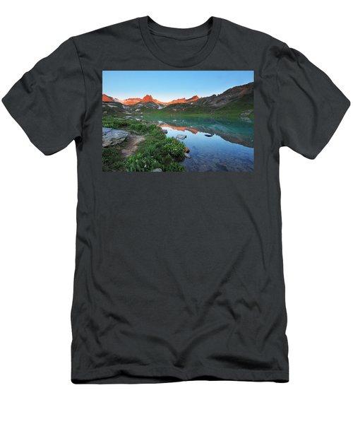 Ice Lake Sunrise Men's T-Shirt (Athletic Fit)