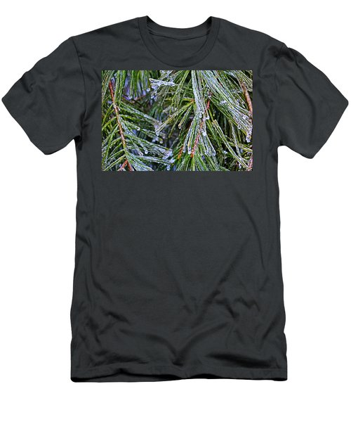 Ice On Pine Needles  Men's T-Shirt (Athletic Fit)