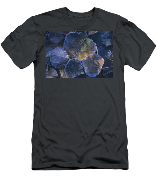 Icy Leaves Men's T-Shirt (Slim Fit) by Susan Rovira
