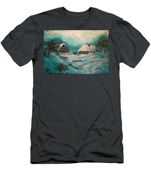 Icy Twilight Men's T-Shirt (Athletic Fit)
