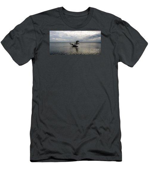 Ikebana Sunset Men's T-Shirt (Slim Fit) by Amar Sheow