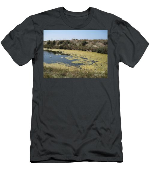 Ile De Re - Marshes Men's T-Shirt (Slim Fit) by HEVi FineArt
