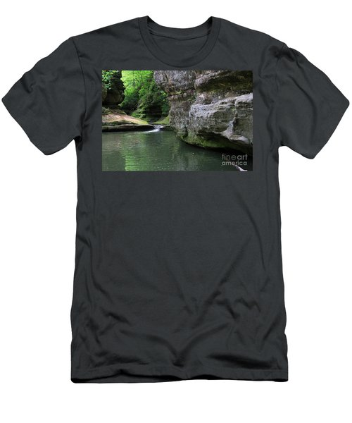 Men's T-Shirt (Slim Fit) featuring the photograph Illinois Canyon May 2014 by Paula Guttilla