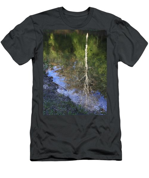 Men's T-Shirt (Slim Fit) featuring the photograph Impressionist Reflections by Patrice Zinck