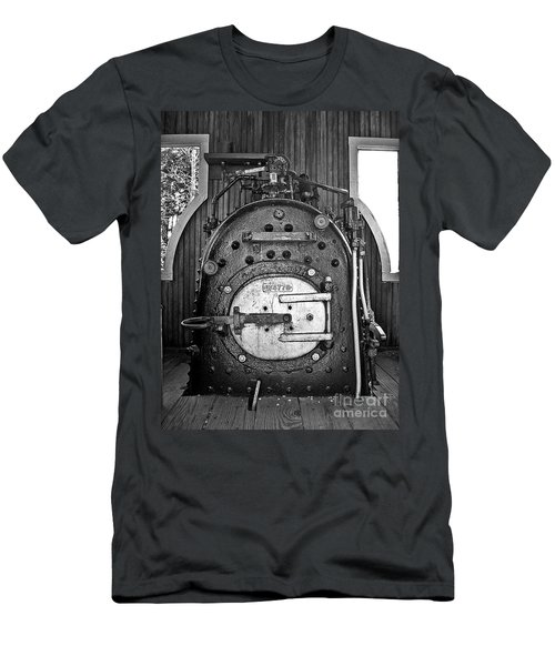Men's T-Shirt (Slim Fit) featuring the photograph In Control B by Sara  Raber