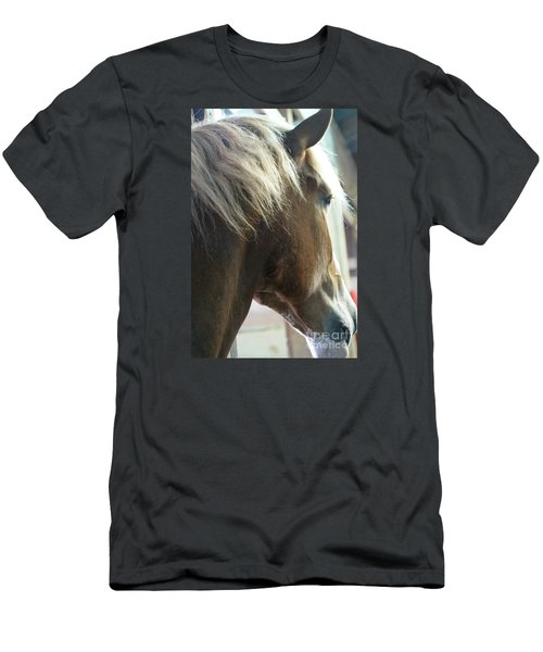 Men's T-Shirt (Slim Fit) featuring the photograph In His Farthest Wanderings Still He Sees by Linda Shafer
