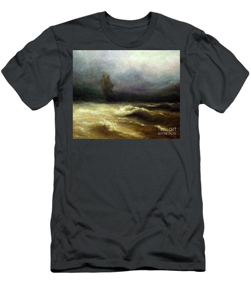 Men's T-Shirt (Slim Fit) featuring the painting In Shadow by Mikhail Savchenko